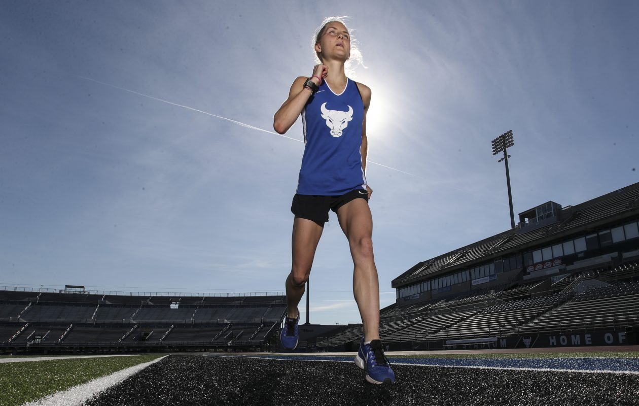 UB's Stephanie Ward is a standout cross country runner who has two big races on the way. (James P. McCoy / Buffalo News)