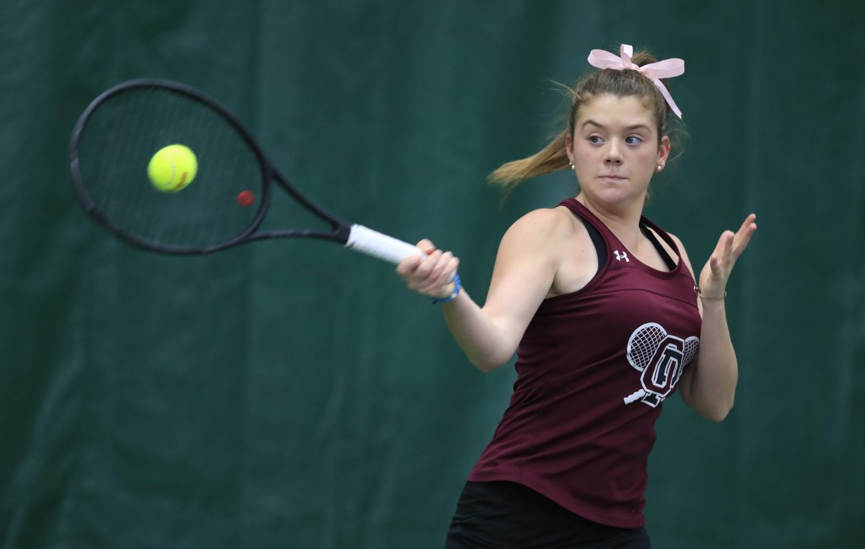 Orchard Park's Madigan Humiston won the singles title at the Section VI Championships on Saturday.  (Harry Scull Jr./Buffalo News)