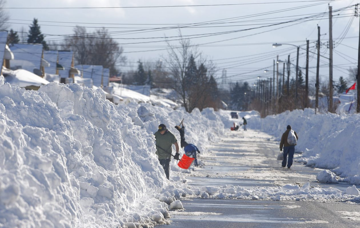Snows of November 2014 proved daunting for residents of West Seneca and other areas clobbered by several feet of snow. Data shows no dramatic trends toward an increase in lake-effect storms, but they could be stronger and more intense. (John Hickey/Buffalo News)