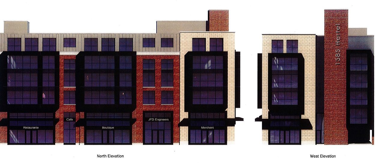 A proposal to construct a five-story building at Hertel and Parkside avenues received two variances from the Zoning Board of Appeals.