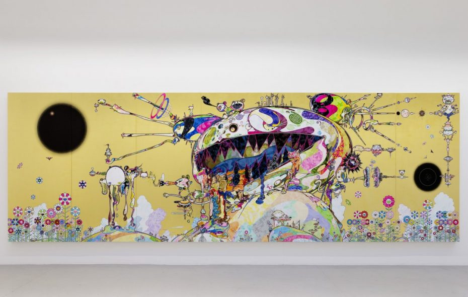 An untitled 2016 painting by Takashi Murakami is on view through Jan. 28 in the Albright-Knox Art Gallery.