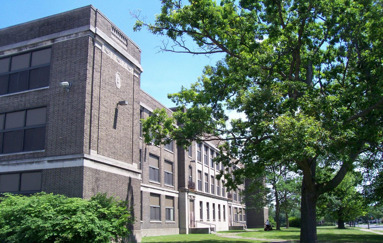 South Junior High School in Niagara Falls, shown here in 2009, sat vacant for years before it was renovated into lofts.