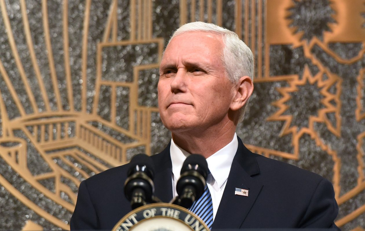 Vice President Mike Pence walked out of the Colts game after some San Francisco 49ers knelt during the national anthem. (Getty Images)
