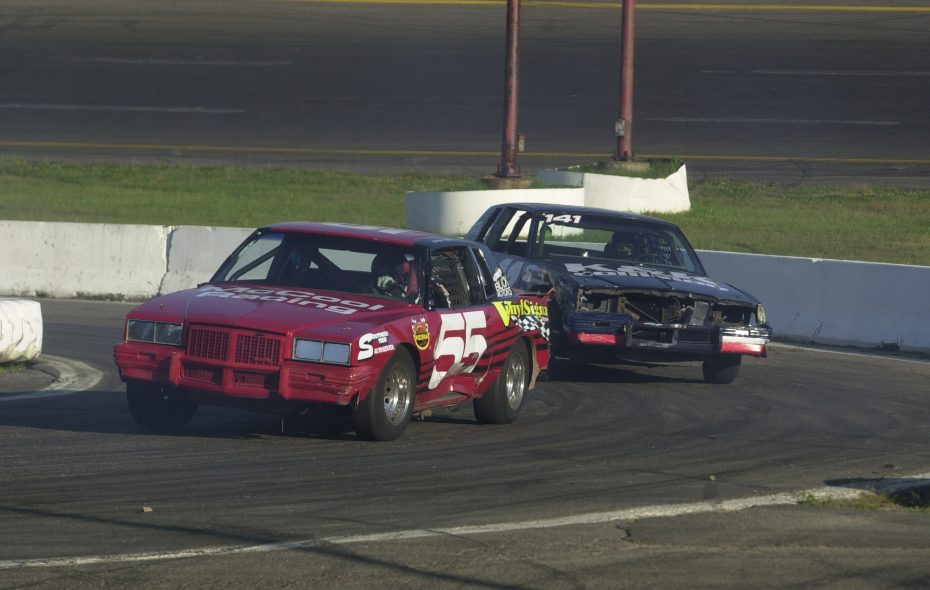 A car on the track at Holland Speedway. (News file photo)