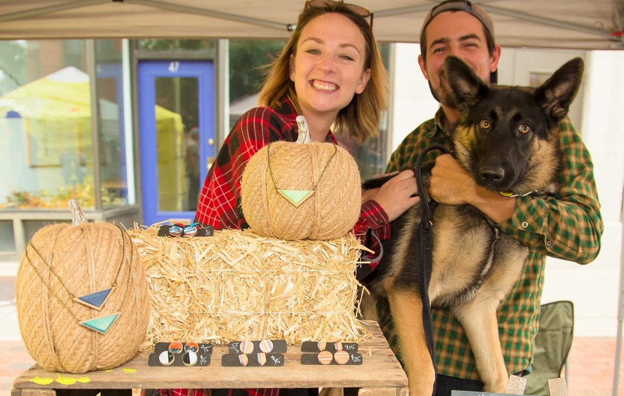 Smiling faces, like these from Trebird Jewelry, at the Allentown Fall Festival in 2016. (Don Nieman/Special to The News)