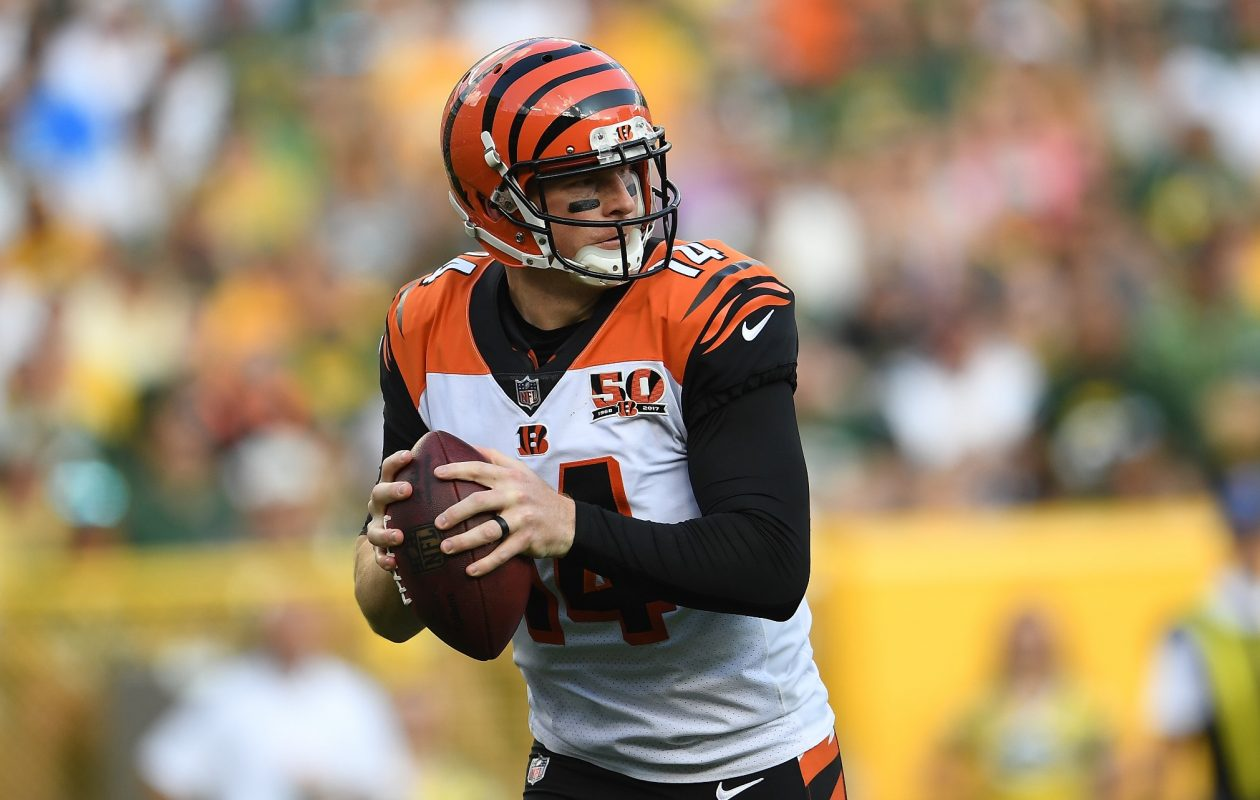 New offensive coordinator Bill Lazor has emphasized the short passing game for Andy Dalton to get the ball out of his hands quickly.  (Getty Images)