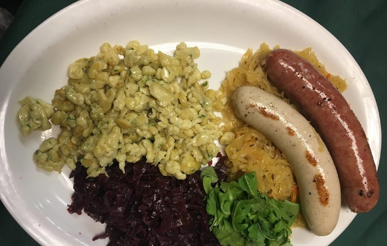 The Creekview celebrates Oktoberfest with menu items like the sausage plate and more. (Photo courtesy Creekview Restaurant.)