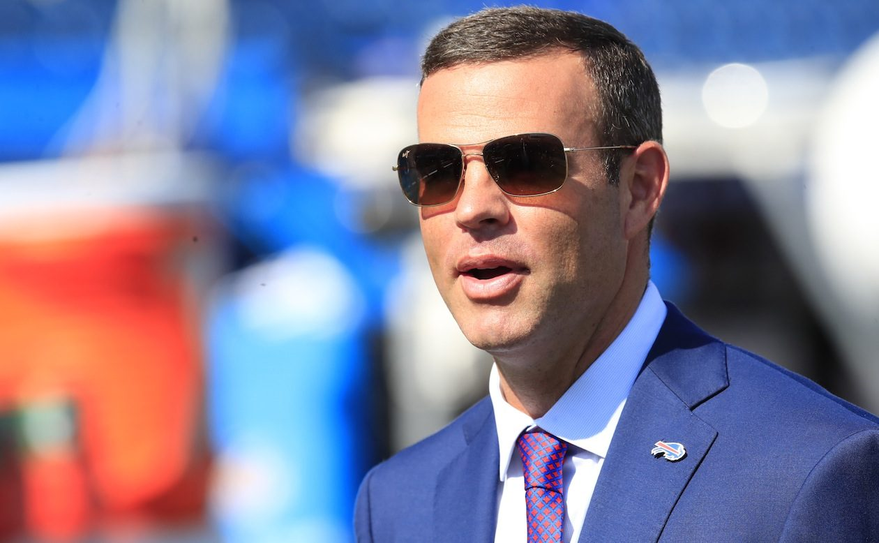 Bills General Manager Brandon Beane is gathering dead space this year so there's more to spend next year. (Harry Scull Jr./Buffalo News)