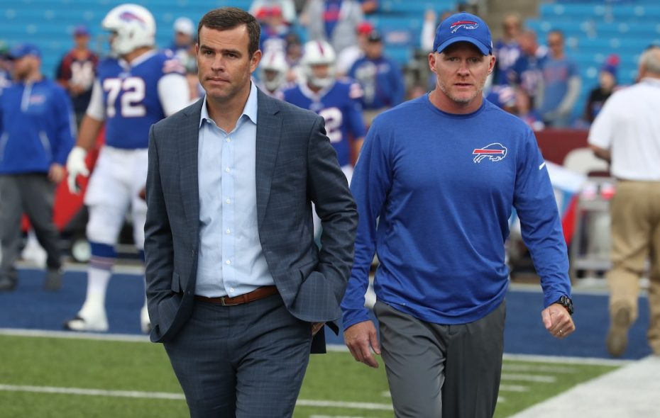 Bills General Manager Brandon Beane and coach Sean McDermott would be justified in being perplexed by how some fans and media members have reacted to a 6-3 start. (James P. McCoy/News file photo)