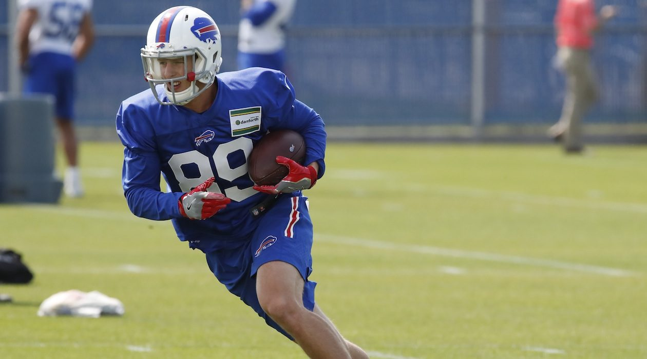 Brandon Reilly was on the Bills' 53-man roster for the last five games of the 2017 season but he did not play in a game. (Harry Scull Jr./News file photo)