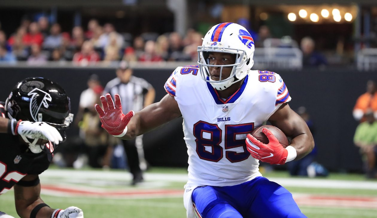 The Bills need a new starter at tight end after Charles Clay's release Friday. (Harry Scull Jr./Buffalo News)