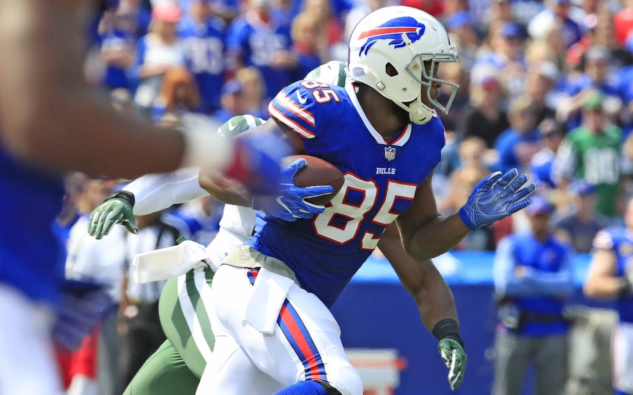 Bills tight end Charles Clay has had a steady first three years in Buffalo. (Harry Scull Jr./Buffalo News)