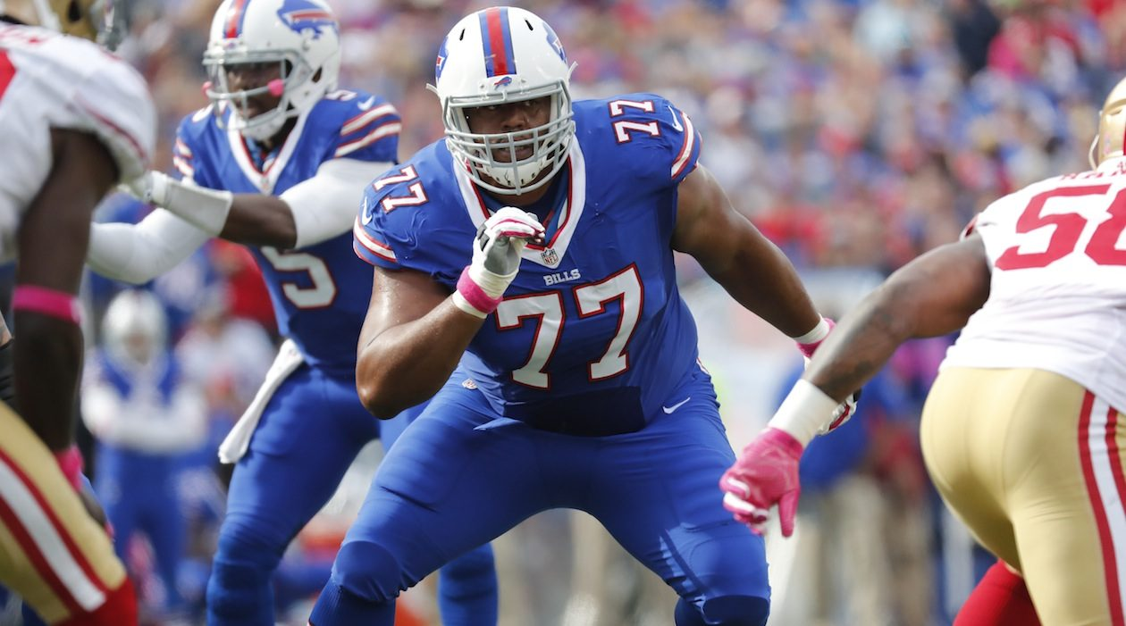 Left tackle Cordy Glenn was traded to the Bengals (Harry Scull Jr./Buffalo News)