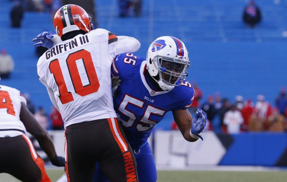 Bills defensive end Jerry Hughes will face his former team Sunday. (Harry Scull Jr./News file photo)