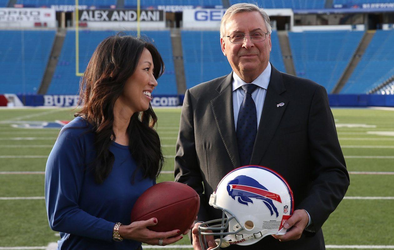 Bills and Sabres owners Terry and Kim Pegula (James P. McCoy/Buffalo News)