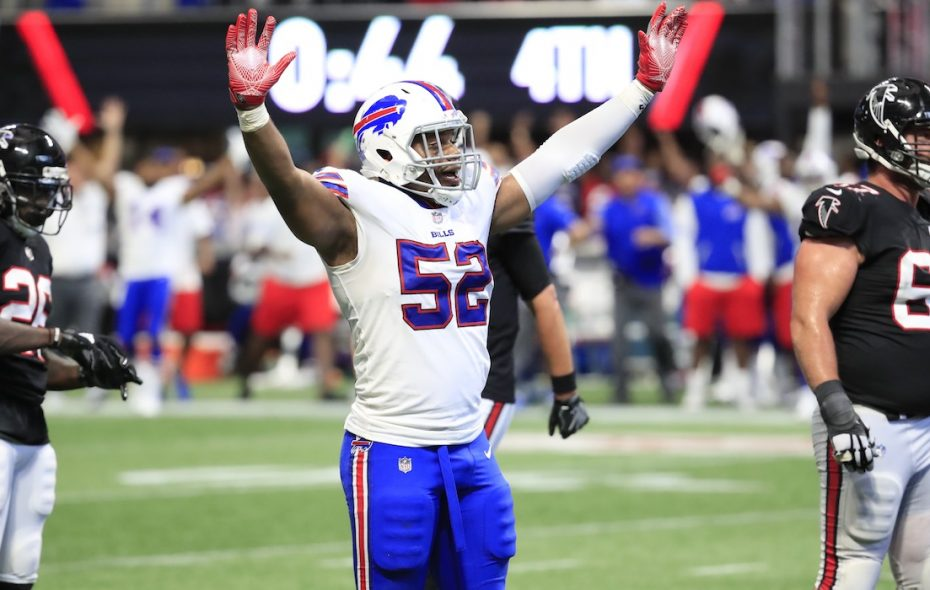 The possible free-agent departure of Preston Brown could be one of the big changes for Bills at linebacker. (Harry Scull Jr./Buffalo News)