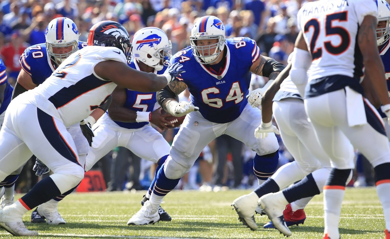 The retirement of Richie Incognito leaves the Bills needing O-line depth. (Harry Scull Jr./Buffalo News)