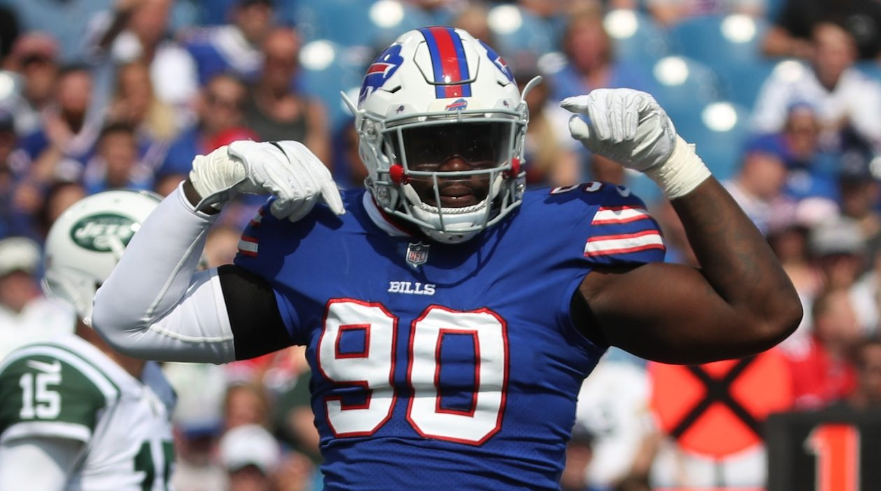 Bills defensive end Shaq Lawson is dealing with the loss of a close friend. (James P. McCoy/News file photo)