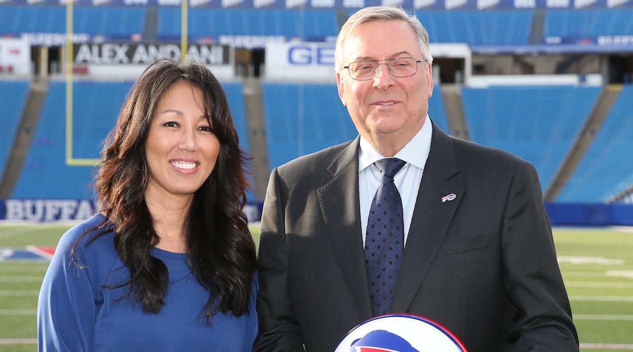 Kim and Terry Pegula. (James P. McCoy/Buffalo News)