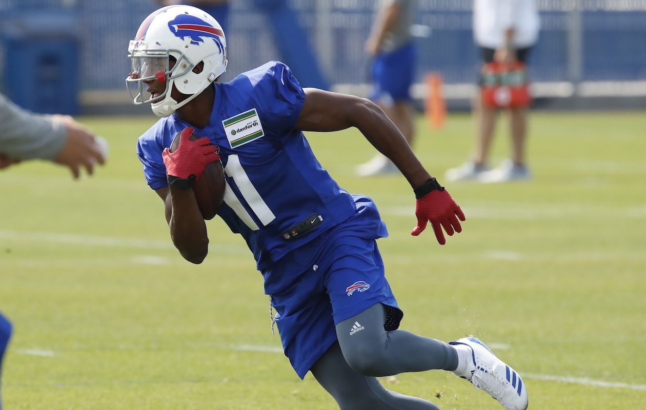 Bills receiver Zay Jones was released from police custody early Wednesday morning in Los Angeles following his arrest Monday night. (Harry Scull Jr./Buffalo News)