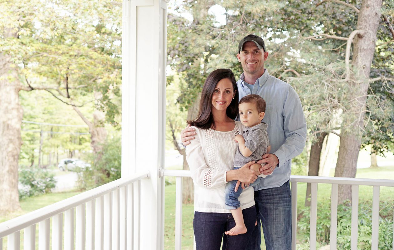 Nick Bond is part of a new generation of dads who are more directly involved in parenting and managing the day-to-day workings of the household. He is pictured here with his wife, Maria, and son, Quinn. (Dave Jarosz)