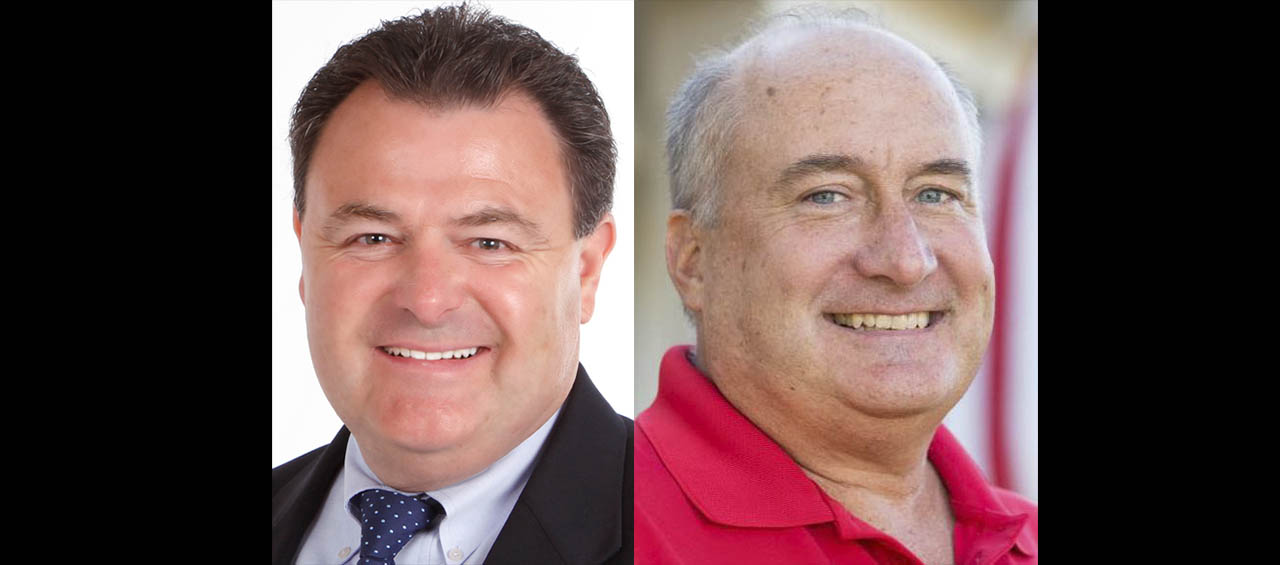 Democrat John Bruso, left, challenged incumbent Erie County Legislator Ted Morton, a Republican, for the 8th District seat in the Nov. 7, 2017 general election.