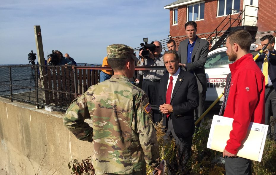 Rep. Chris Collins R-Clarence, said project to keep storm waves off Route 5 in Hamburg is a priority. (Barbara O'Brien/Buffalo News)