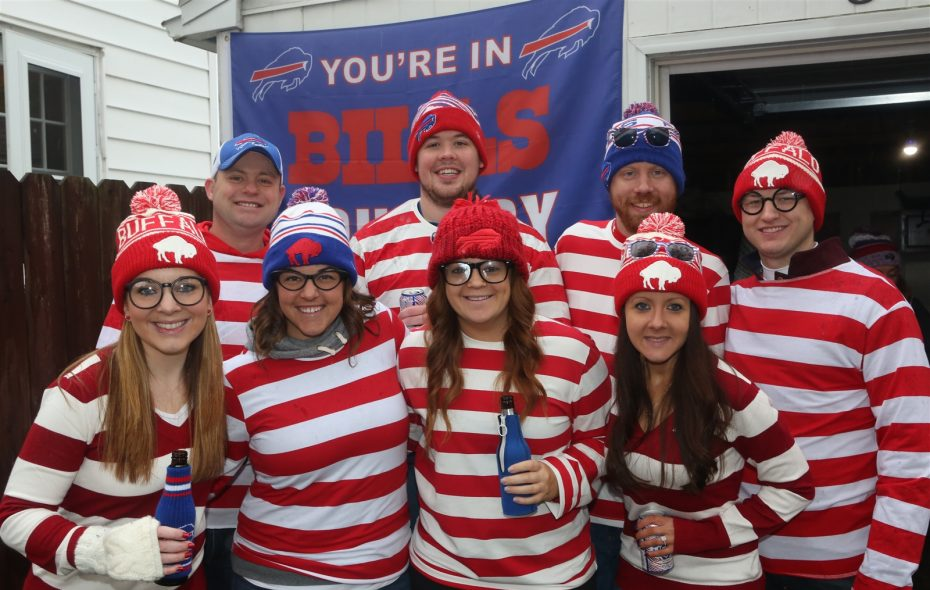 These Bills fans were dressed as Waldo at the Bills vs. Raiders game on Oct. 29. (Dave DeLuca/Special to the News).