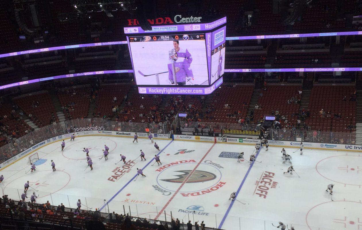 The Sabres face the Ducks tonight in Anaheim. (Mike Harrington/Buffalo News)