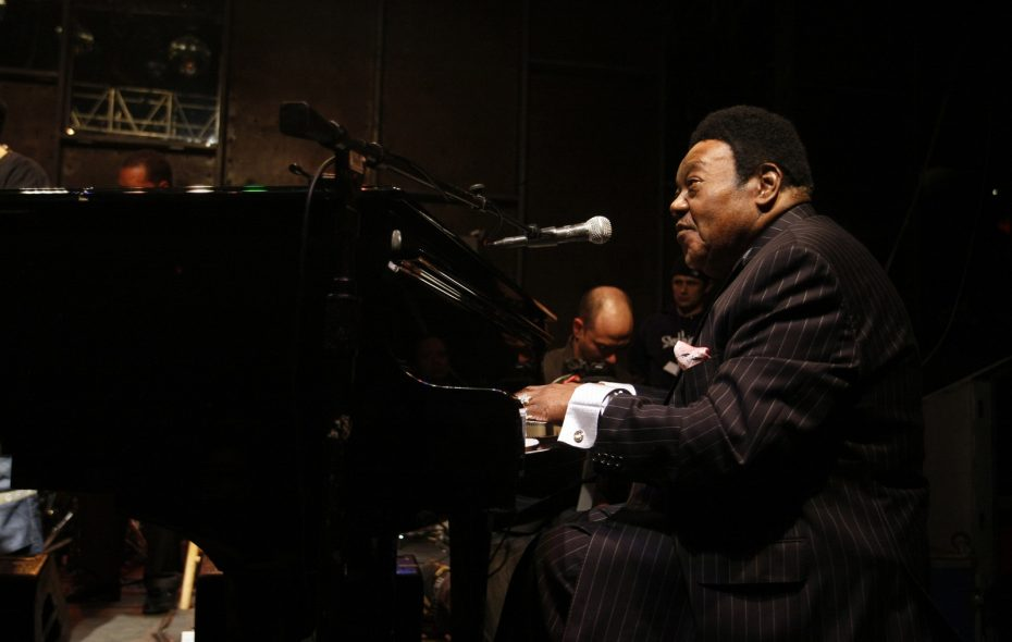 Fats Domino performs at the Pink Elephant, a nightclub  in New York, in 2007. Domino, a singer known for his two-fisted boogie-woogie piano and nonchalant vocals who had more than three dozen hits in the 1950s and 1960s, has died in Louisiana. He was 89.  (Rahav Segev/The New York Times)
