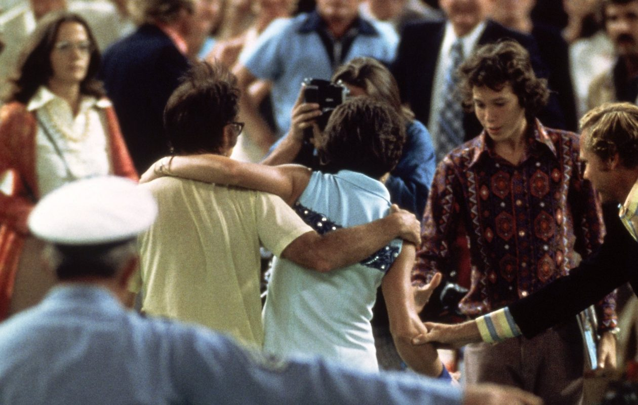 Jerry Sullivan says Cam Newton could learn something from the Battle of the Sexes tennis match between Bobby Riggs, left, and Billie Jean-King. (Getty Images/Allsport)