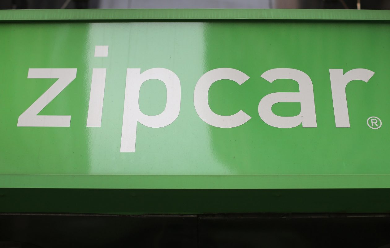 Zipcar has cars throughout Buffalo, including three at the Buffalo Niagara Medical Campus. Here, a sign hangs at a Zipcar rental car branch in Manhattan. (John Moore/Getty Images)