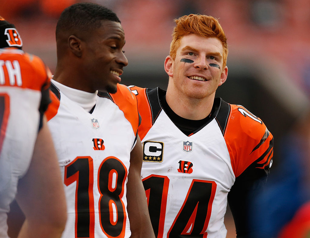 Andy Dalton and the Bengals helped put an end to the Bills' playoff drought. (Gregory Shamus/Getty Images)