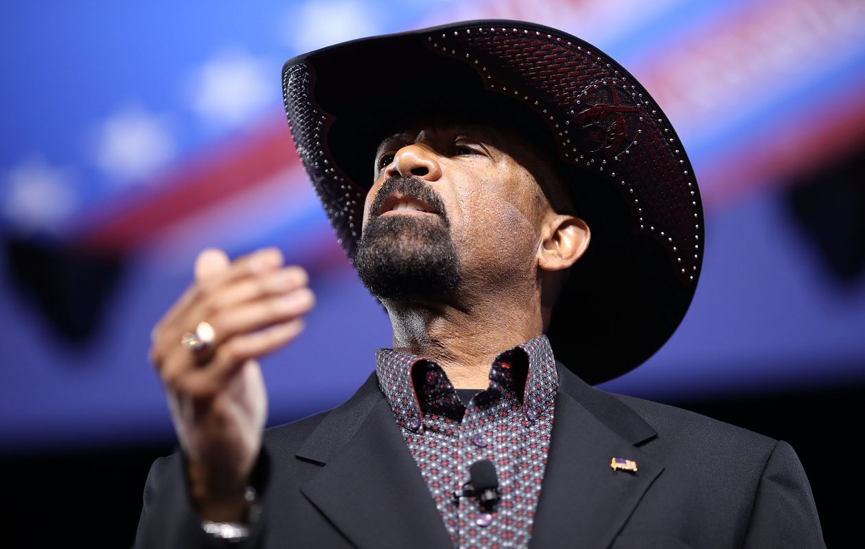 Milwaukee County Sheriff David Clarke  addresses the Conservative Political Action Conference  in February. (Getty Images)
