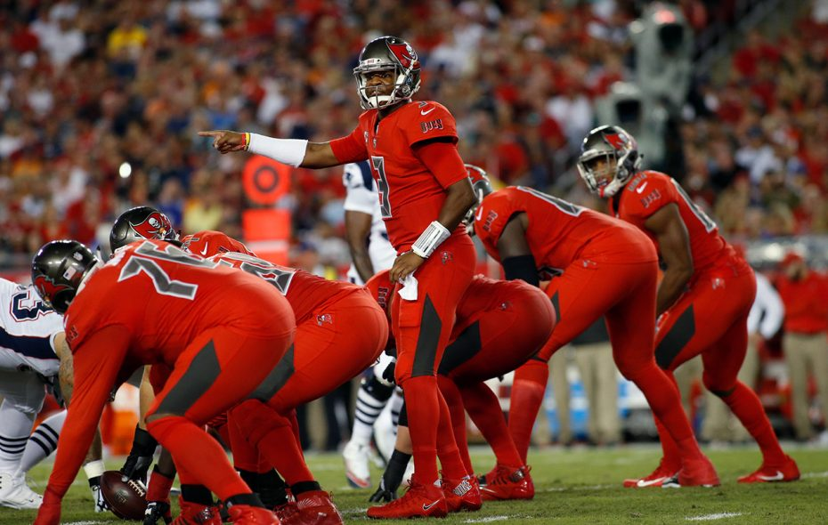 Tampa Bay's Jameis Winston projects as middle of the pack QB this week, but so does Buffalo's Tyrod Taylor. (Brian Blanco/Getty Images file photo)