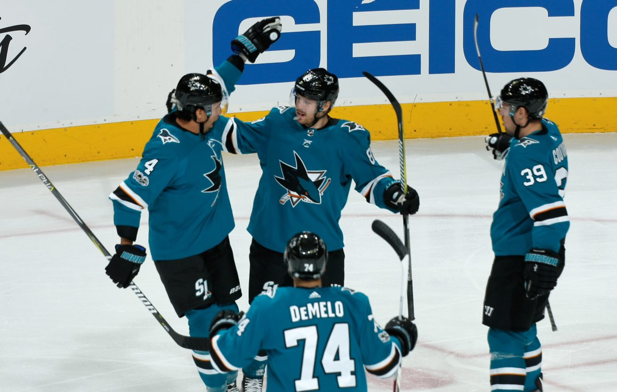 The Sabres being their four-game road at San Jose. The Sharks are 0-2. (NHLI via Getty Images)