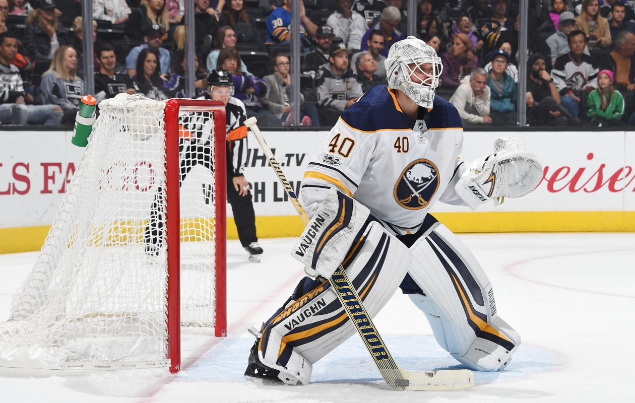 Robin Lehner doesn't feel like he's even wearing pads when his Vaughn equipment is on. (NHLI via Getty Images)