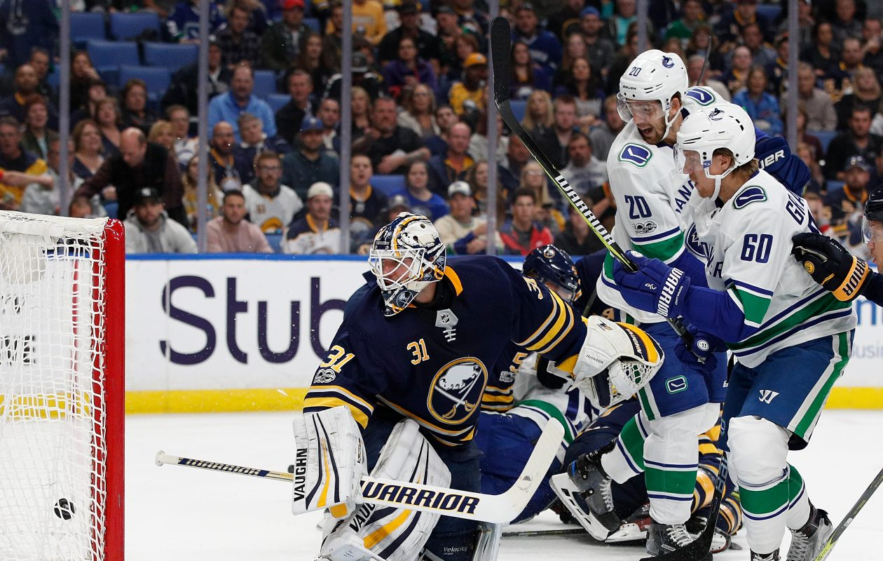 Chad Johnson allowed three goals in Friday's loss. (Getty Images)