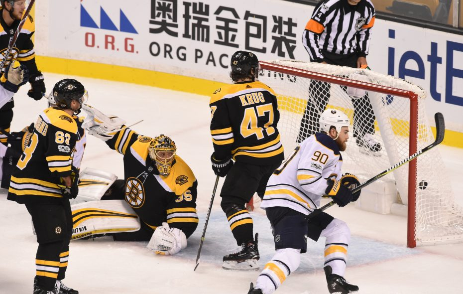 The Sabres' Ryan O'Reilly scores the winner with 2:01 left in overtime. (NHLI via Getty Images)