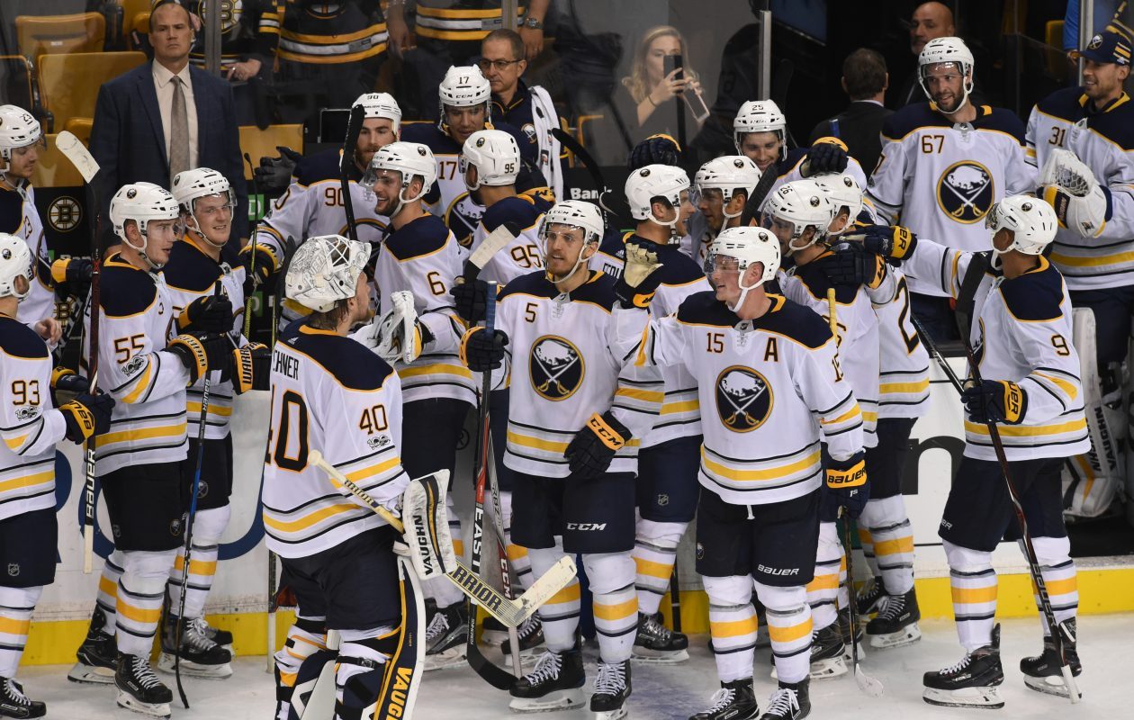 The Sabres know Saturday's win in Boston means little if they don't keep rolling. (NHLI via Getty Images)