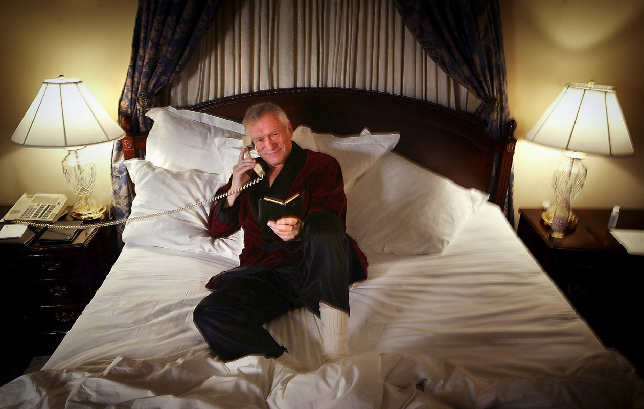 Hugh Hefner, who created Playboy magazine and spun it into a media and entertainment-industry giant. (Vincent Laforet/The New York Times)