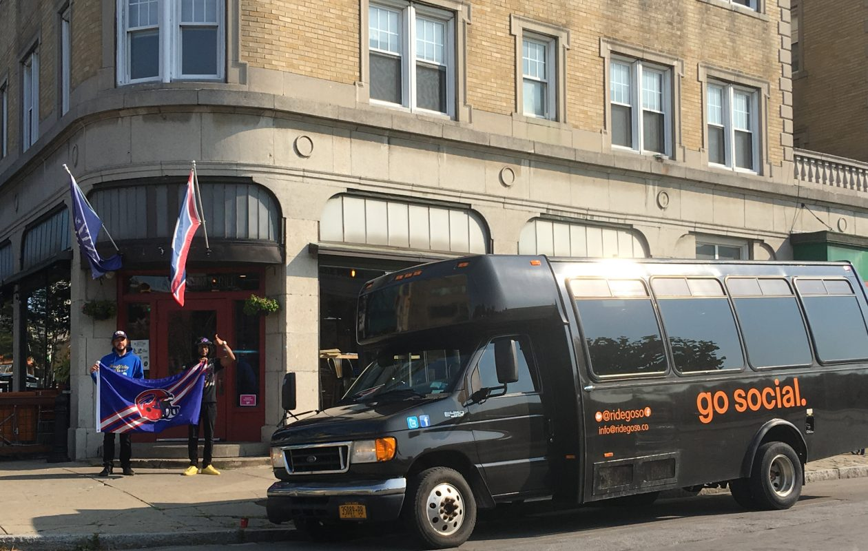 The remodeled Colter Bay draws a few dozen Bills fans on Sundays and also serves as the meeting place for the GoSocial game day shuttle. (Photo courtesy of GoSocial Transportation)