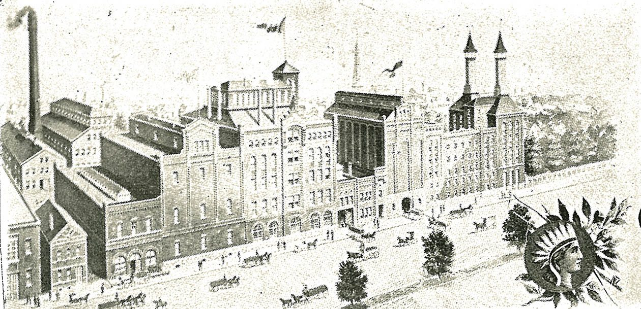 The Iroquois Brewing Co. as illustrated in 'Buffalo: Old and New,' published in 1901.