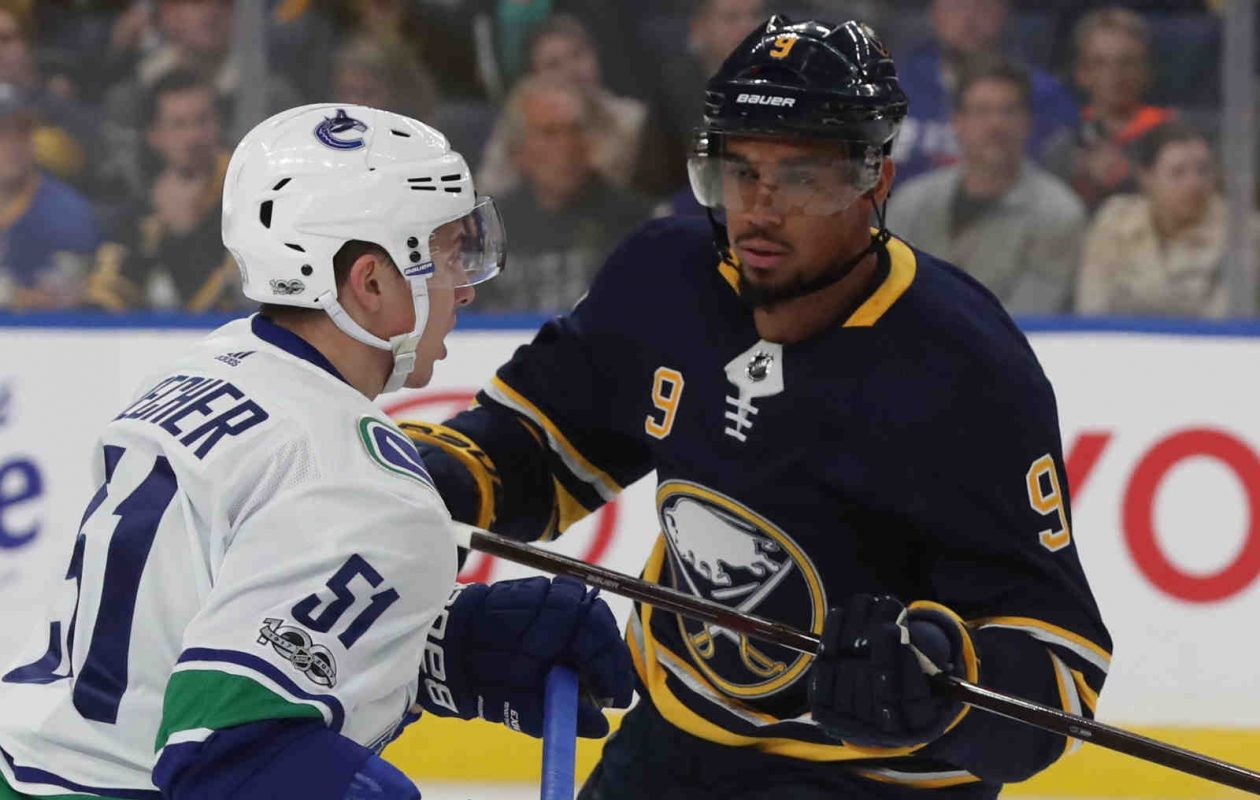 The Sabres' Evander Kane is on a power-play unit with Kyle Okposo and Jason Pominville. (James P. McCoy/Buffalo News)