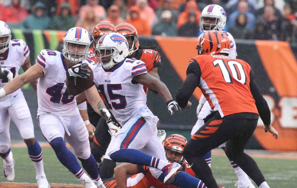 Bills receiver Brandon Tate was one of the few bright spots Sunday against the Bengals. (James P. McCoy/Buffalo News)