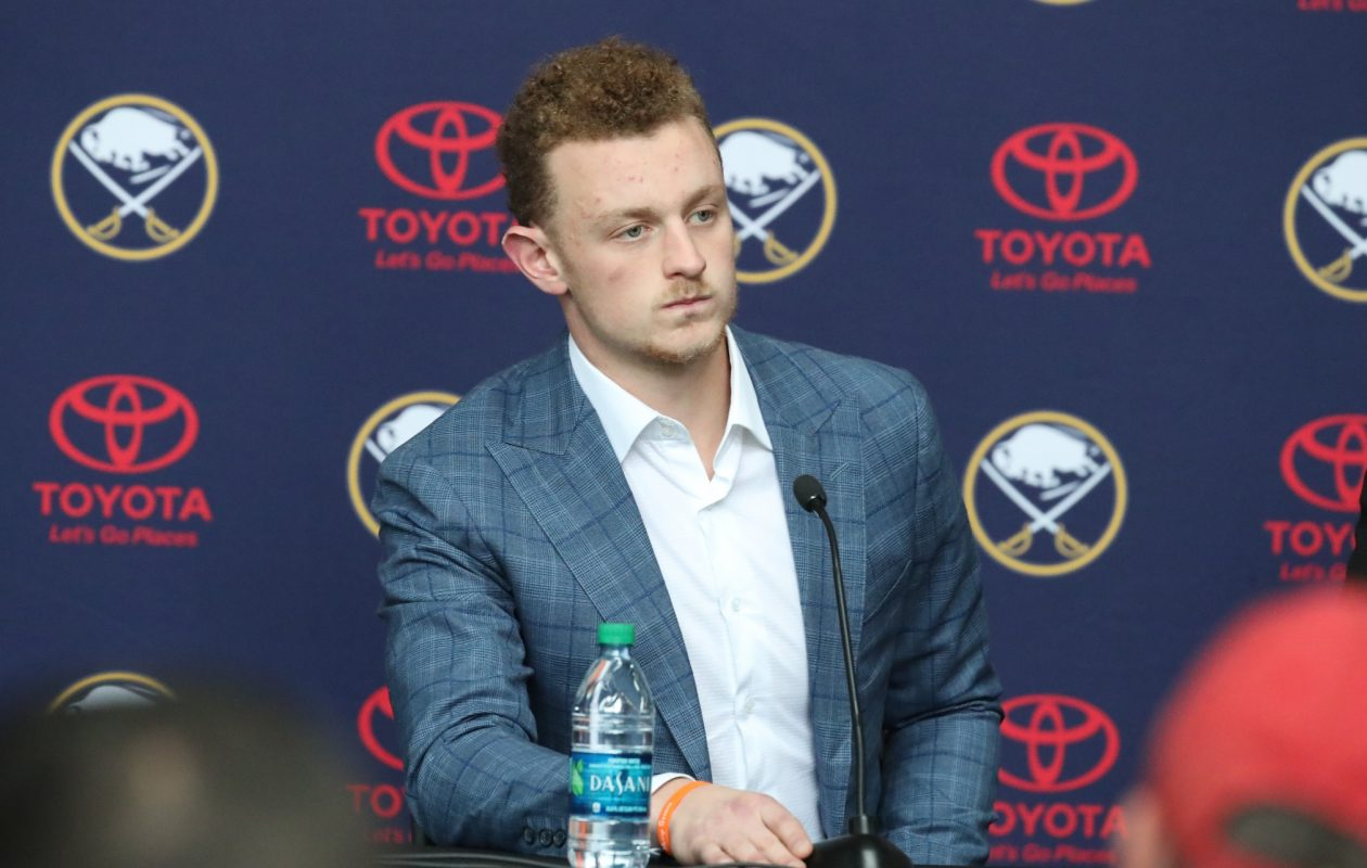 According to multiple sources, Jack Eichel's deal has some lockout protection built into his new contract.  (James P. McCoy / Buffalo News)