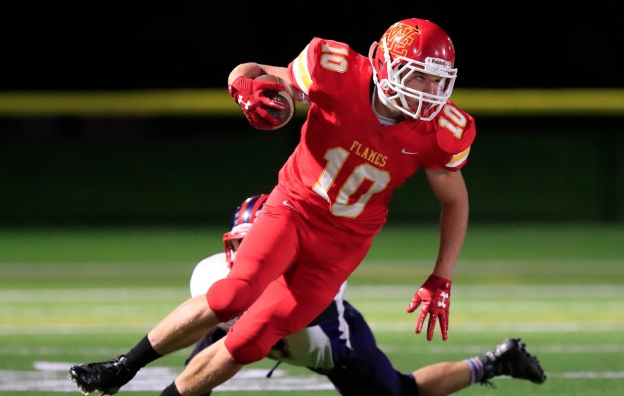 Joey Shifflet and the Williamsville East Flames are among five teams in Class A North vying for four playoff spots as the season hits the home stretch. (Harry Scull Jr./Buffalo News)