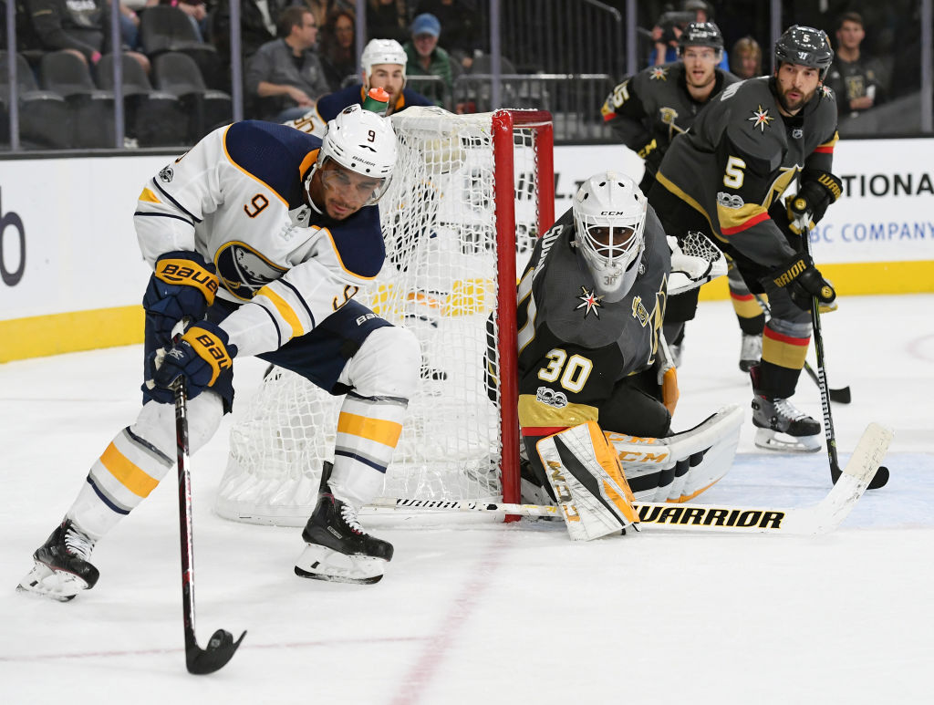 Evander Kane scored the tying goal Tuesday in Vegas with 8.9 seconds left in regulation. (Getty Images)