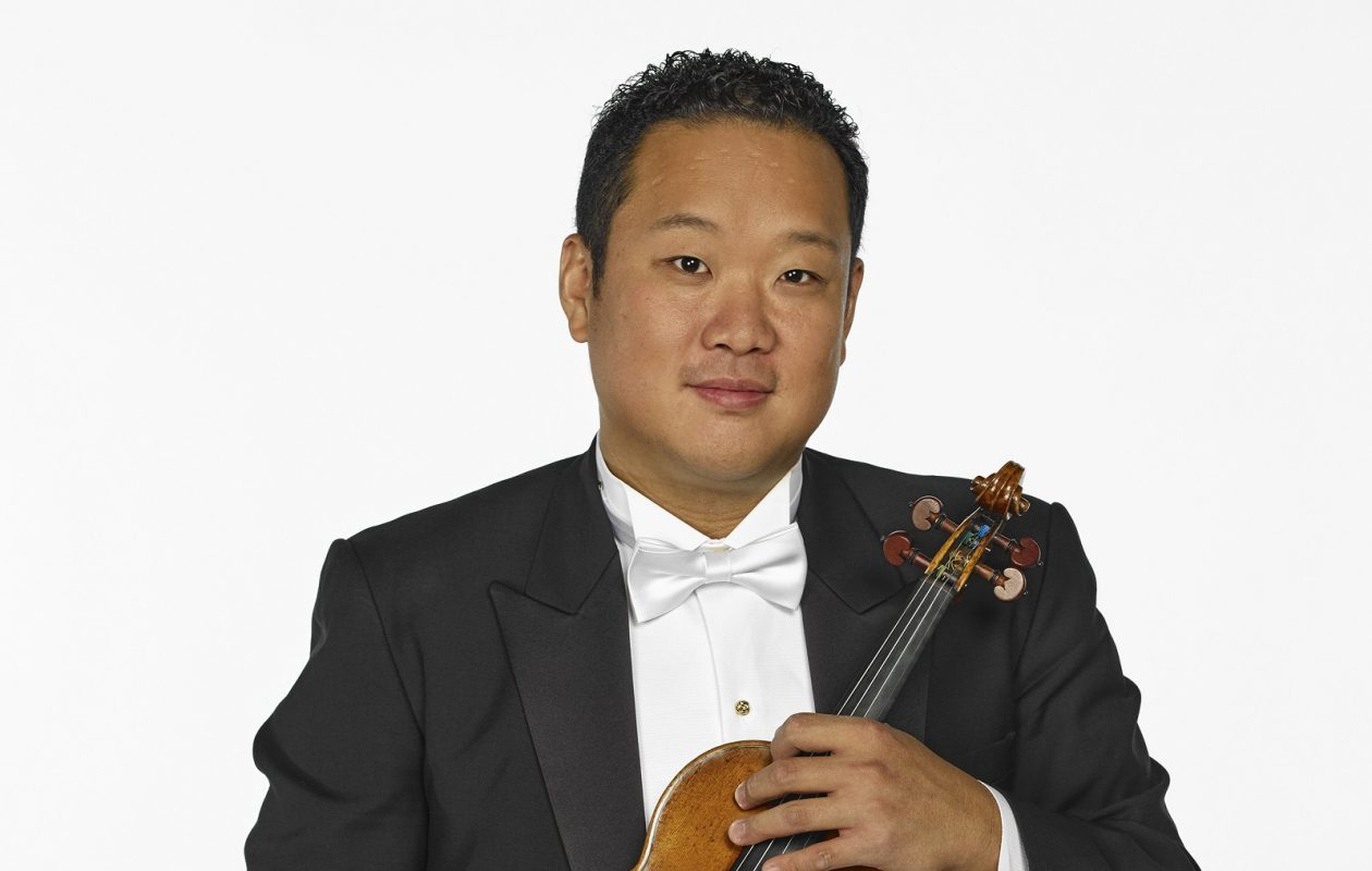 Dennis Kim is performing a violin concerto by Philip Glass.