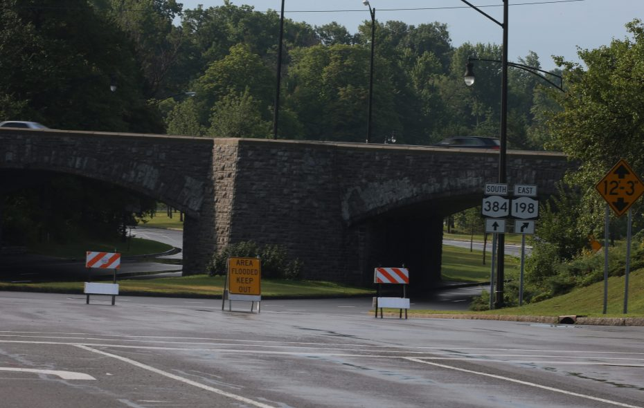 A motorist was killed late Thursday when his vehicle crashed into the abutment at the Delaware S curves, shown here in a file photo. (News file photo)